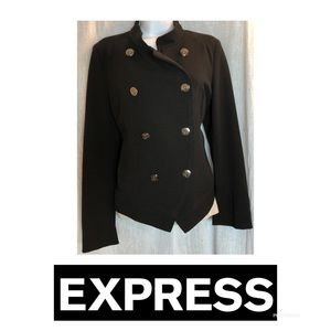 Express Military Style Blazer Silver Large Buttons